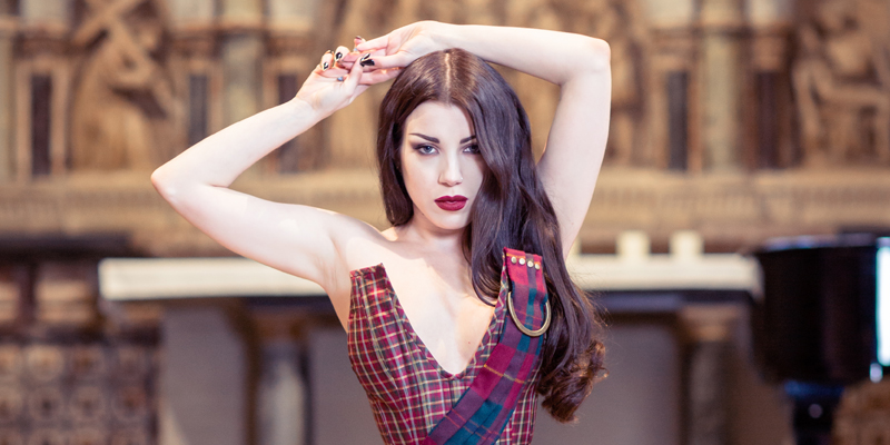 tartan corset - oxford conference of corsetry